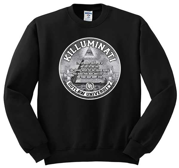 Image of KILLUMINATI 3RD EYE - CREWNECK