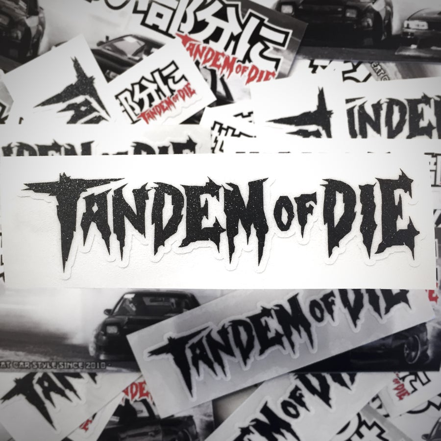 "Image of Tandem of Die slap sticker (5x1.4"")"