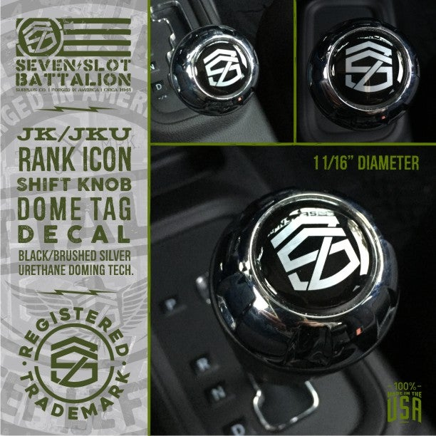 Image of Rank Icon Shift Knob Tag