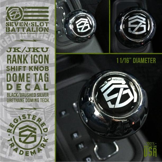 Image of Rank Icon Shift Knob Tag