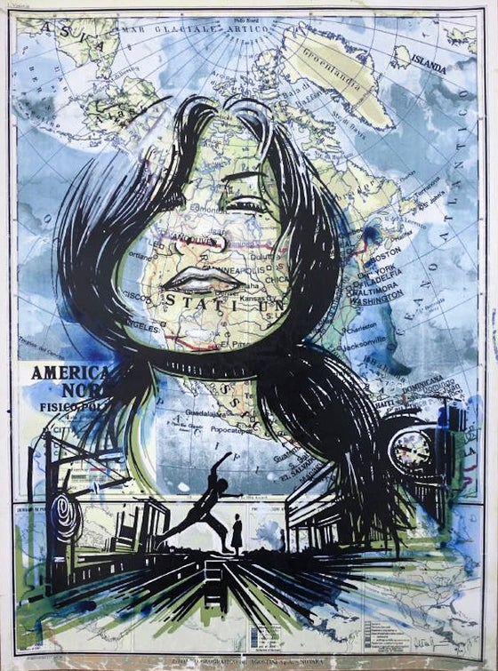 "Image of Alice Pasquini ""Into the great wild open"""
