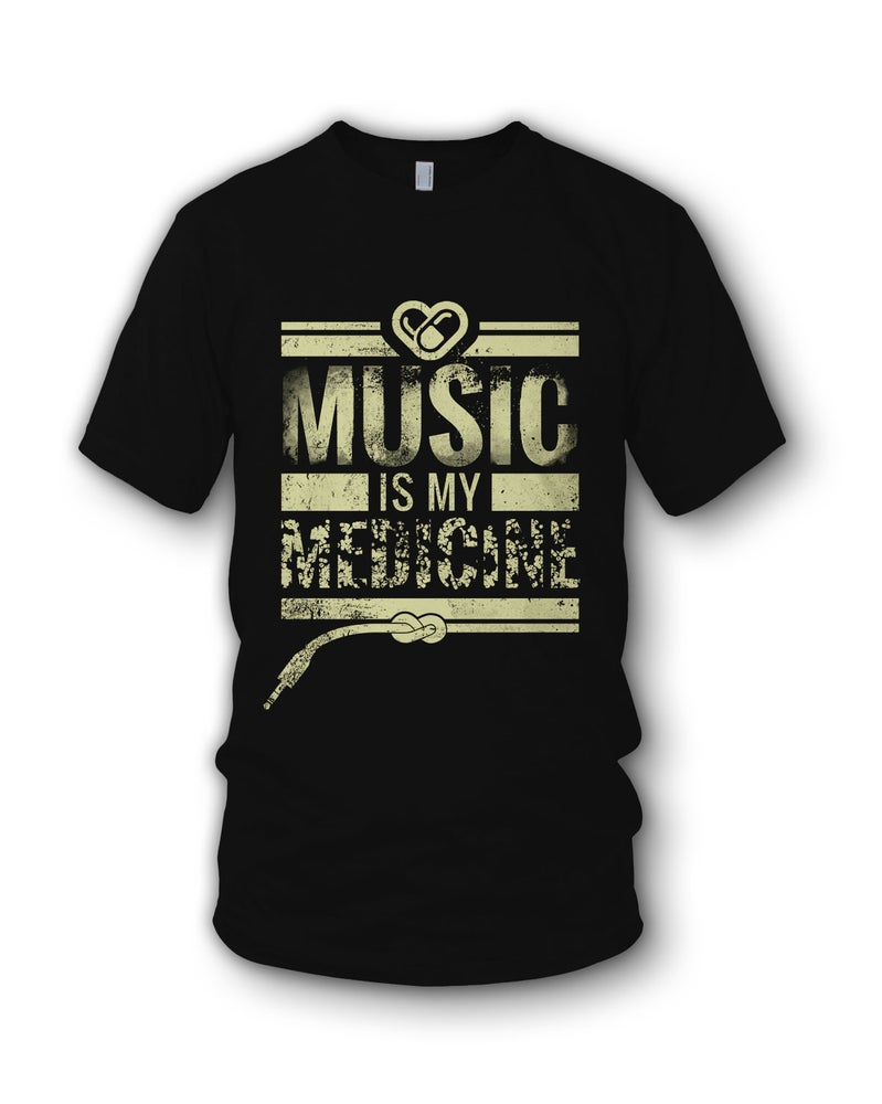 Image of Music Is My Medicine - Black T Shirt