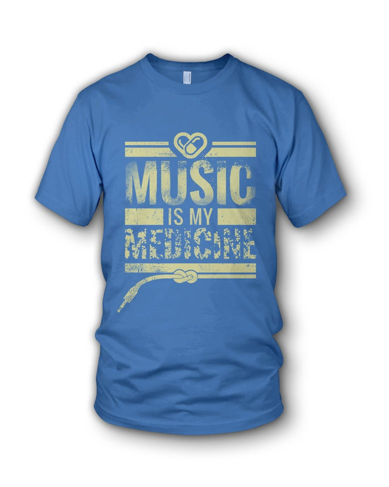 Image of Music Is My Medicine - Blue T Shirt
