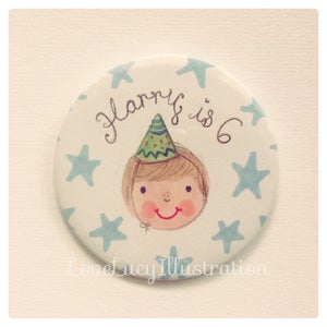 Image of Personalised Boy's Birthday Badge