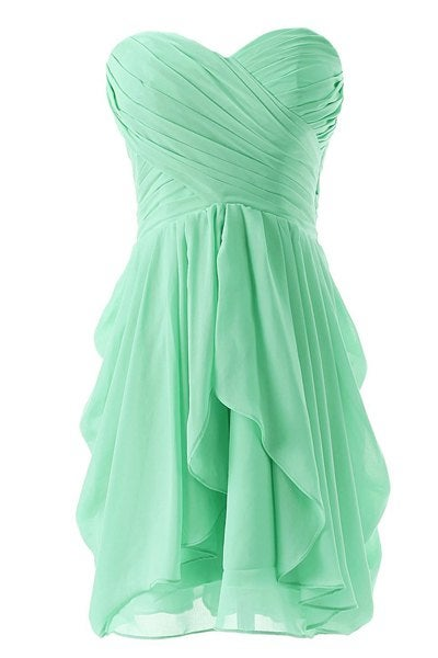 Lovely Short Mint Sweetheart Bridesmaid Dresses, Mint Bridesmaid Dresses, Mini Party Dresses
