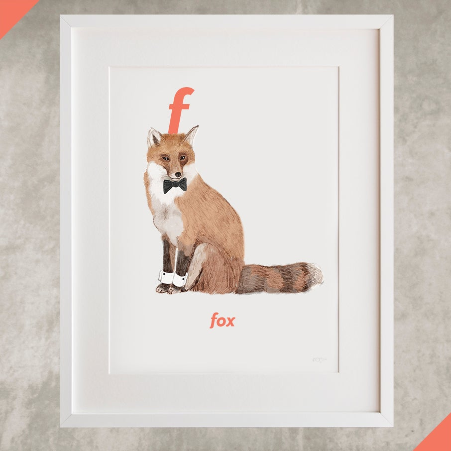 Image of F - Fox Letter Print