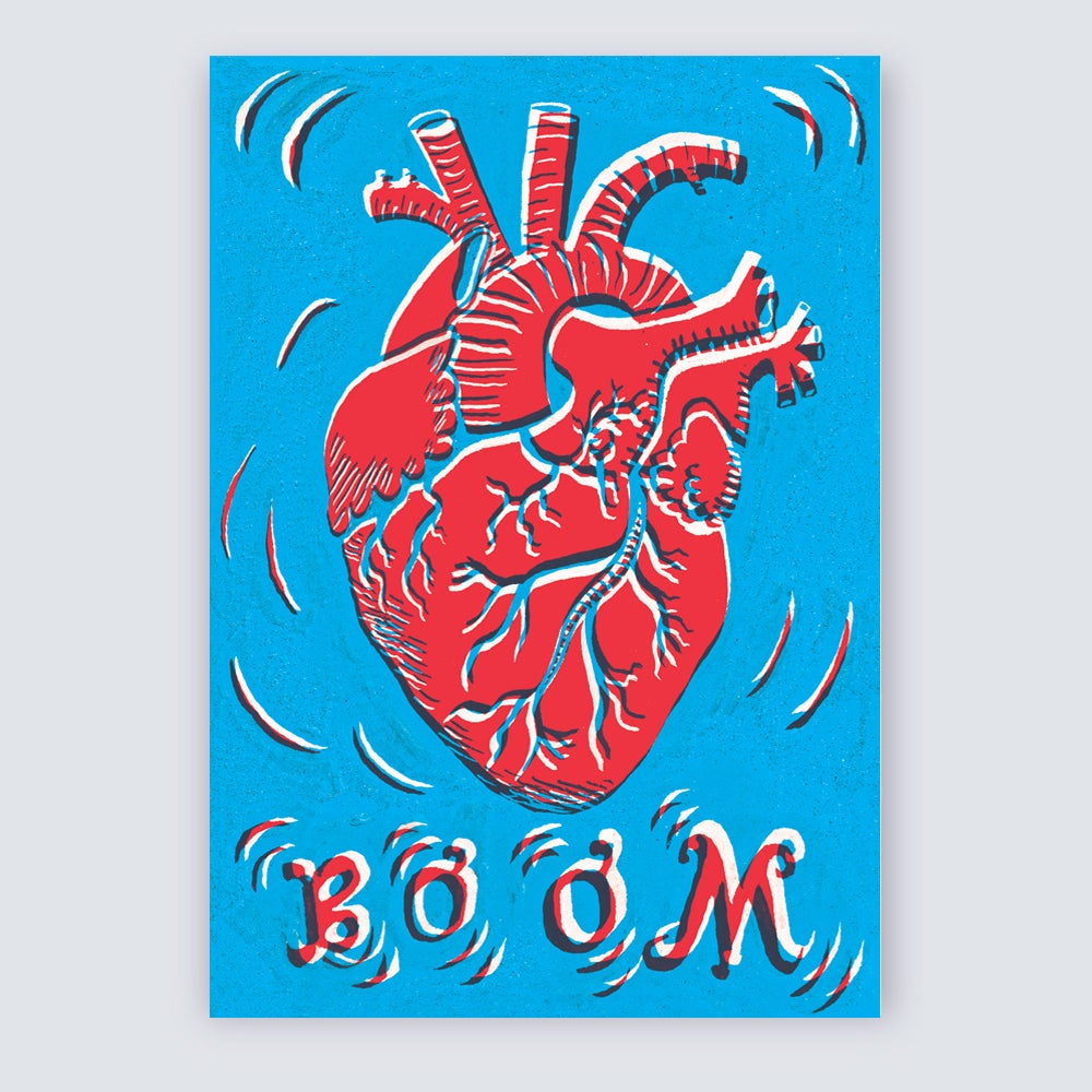 Image of BOOM! Heart A6 Greetings Card
