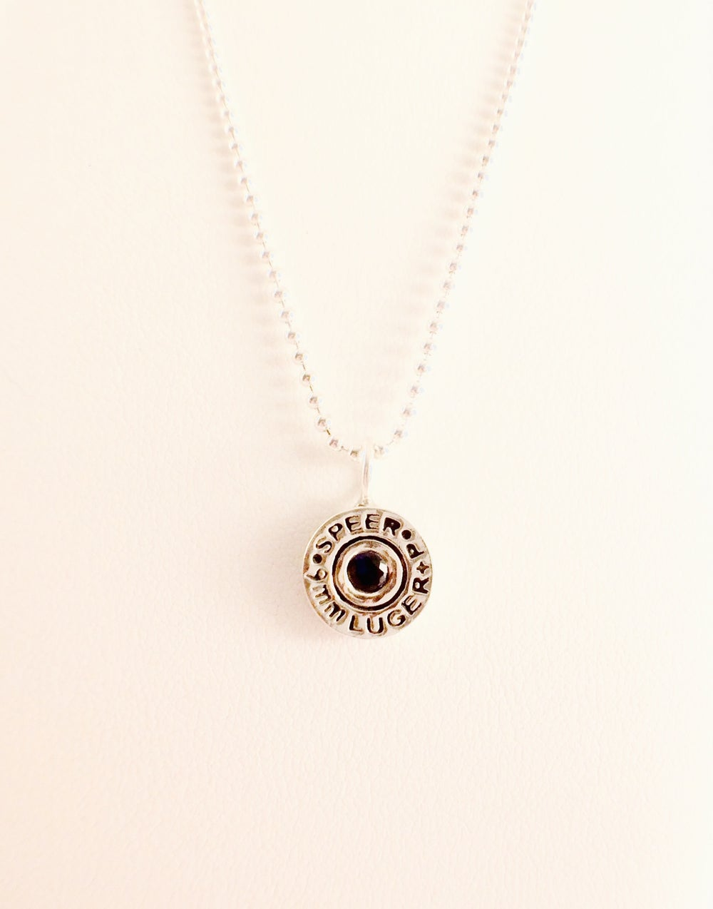 Image of 9mm SPEER Gold Dot Pendant Necklace
