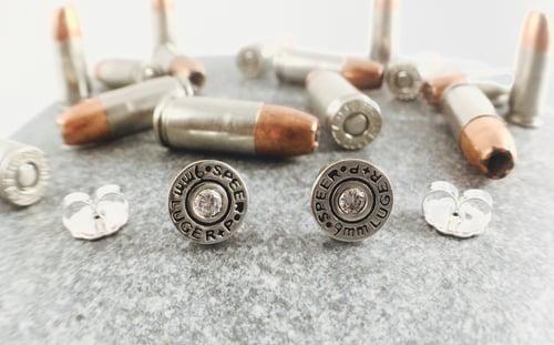 Image of 9mm SPEER Gold Dot Stud Earring Set