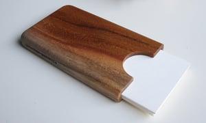 Image of Teak business card holder