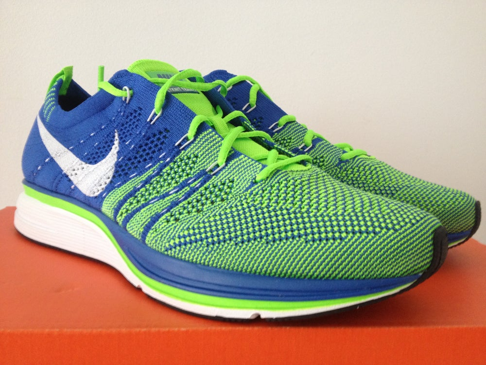 01acf7e092eb ... Image of Nike Flyknit trainer Electric Green 2012 ...