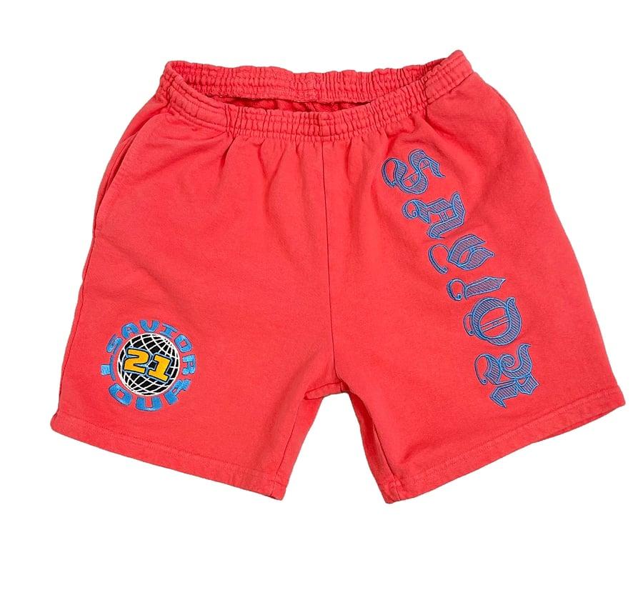 Image of Savior Sweats Shorts- Salmon