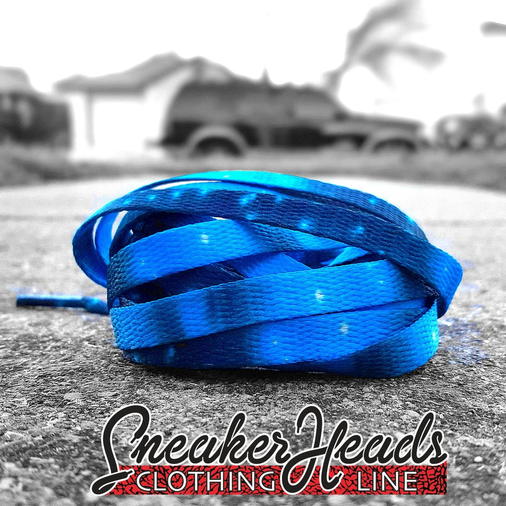 "Image of Exclusive ""Blue Northern Lights"" LE Custom Shoelaces"
