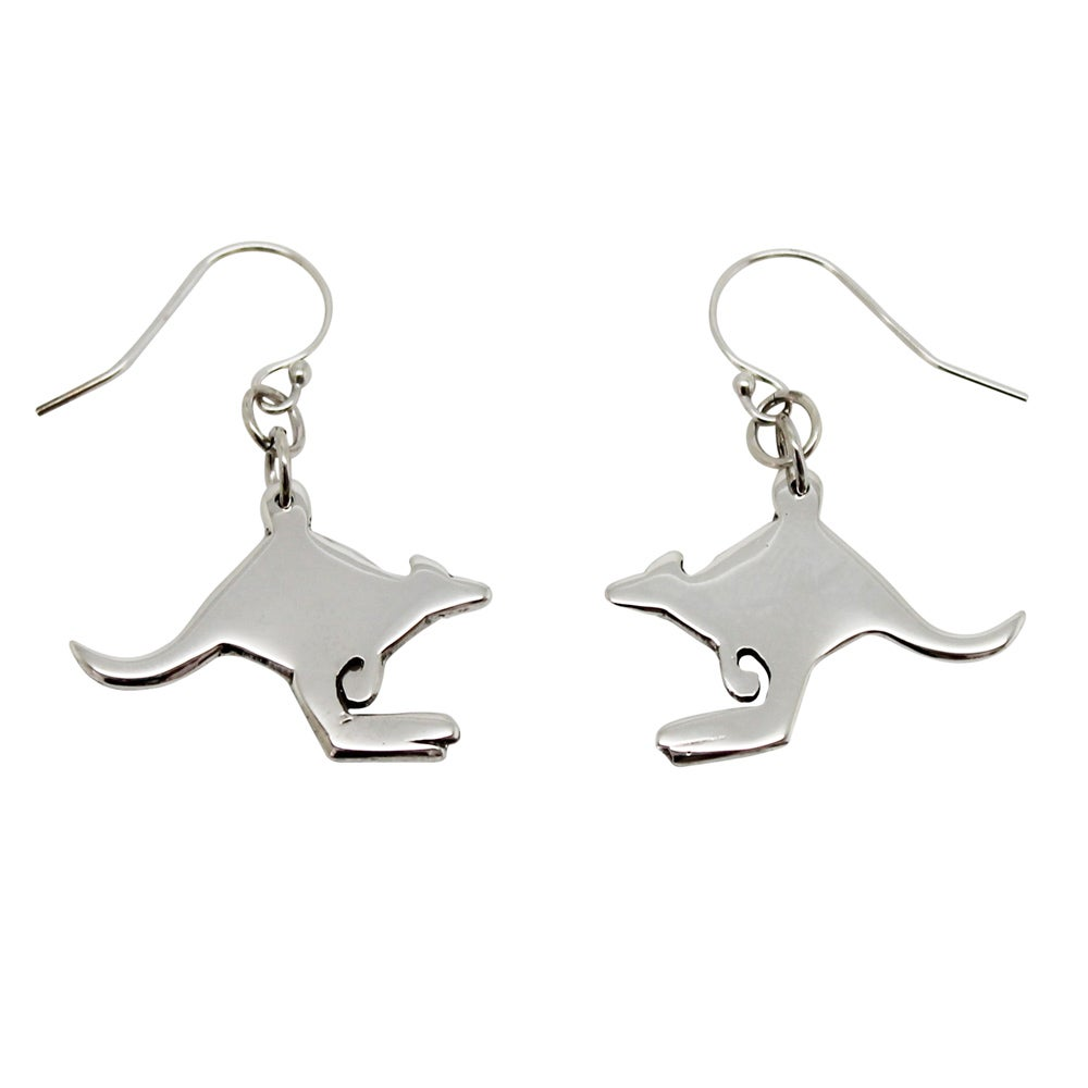Image of Kangaroo Sterling Silver Earrings