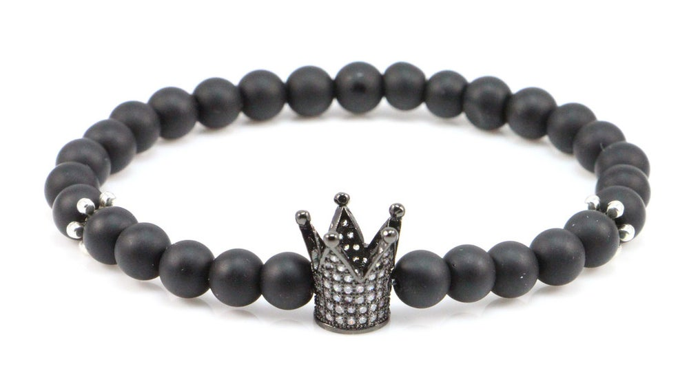 Image of ZENGER 18kt Black Crown with 925 Silver Spacer Beaded