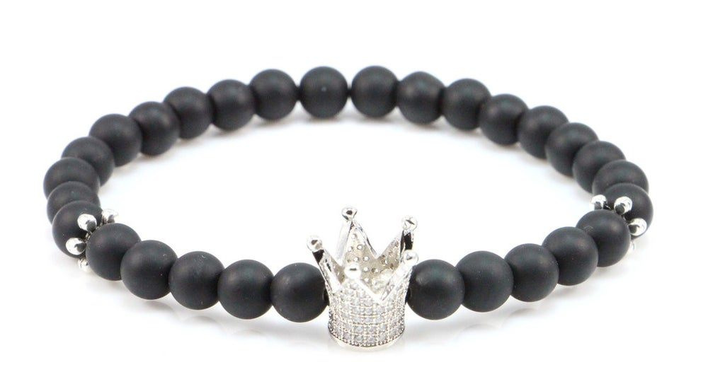 Image of ZENGER 18kt Silver Crown with 925 Silver Spacer Beaded