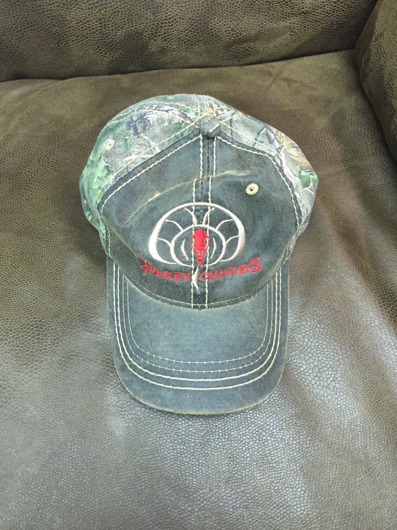 Image of Turkeyologists Hat- Red & Black & Camo