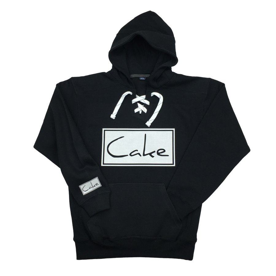 Image of Cake Pullover Hockey Style Hoodie Black/White