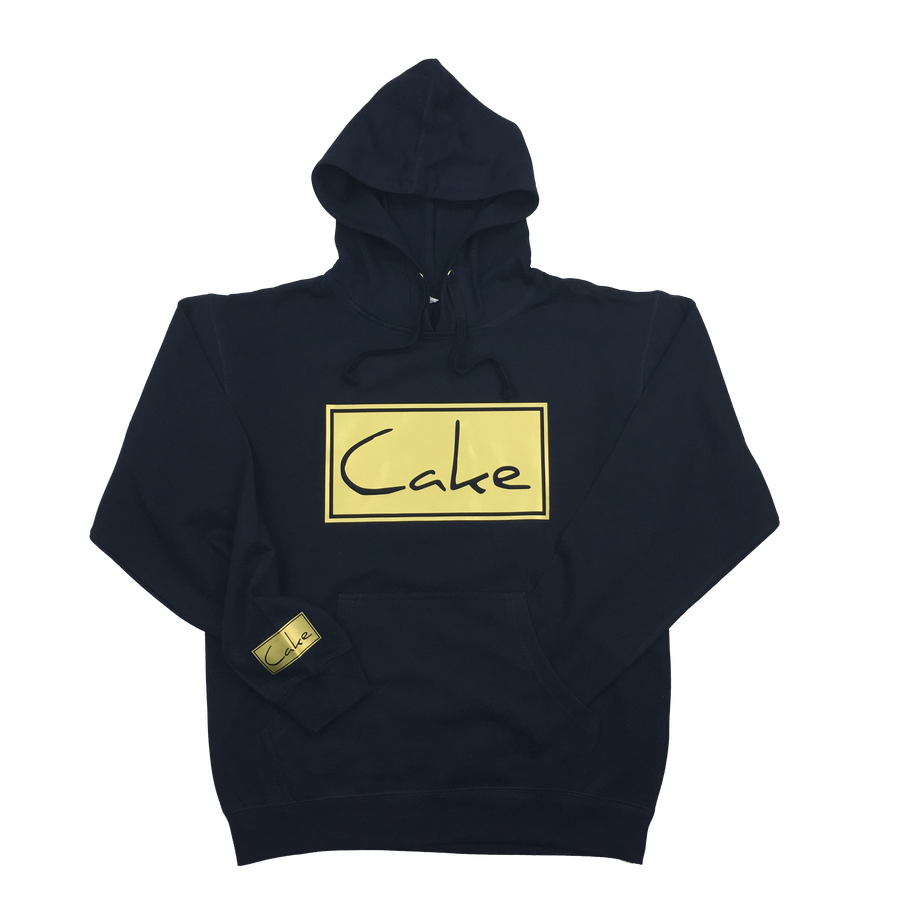Image of Cake Pullover Hooded Sweatshirt Navy Blue/Gold
