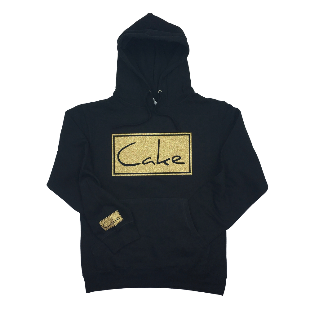 Image of Cake Pullover Hooded Sweatshirt Navy Black/Golden Glitter