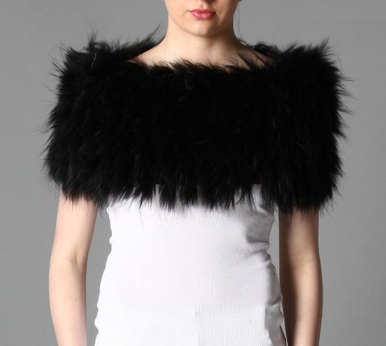 Image of Jayley Black Fox Fur Snood