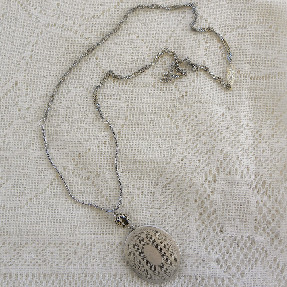 Image of antique filigree bead and locket - was $65