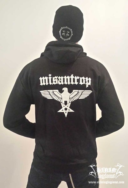 "Image of Shining ""Misantrop"" Hooded sweatshirt with zipper"