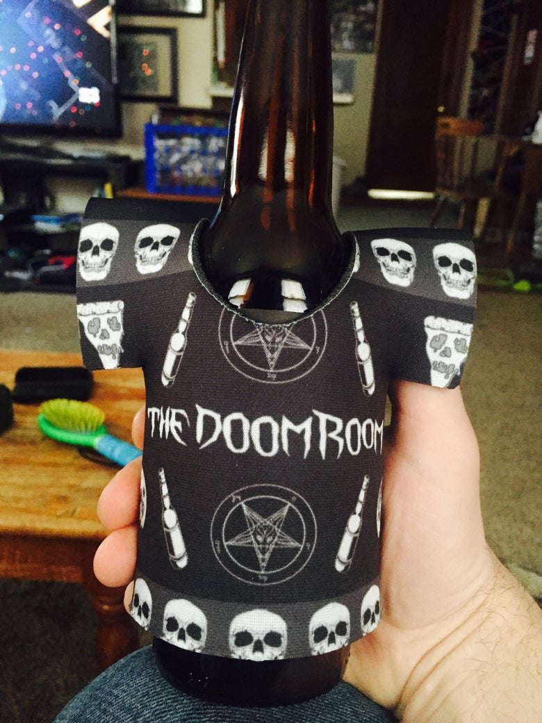 Image of Doom Room Tee Shirt Koozie