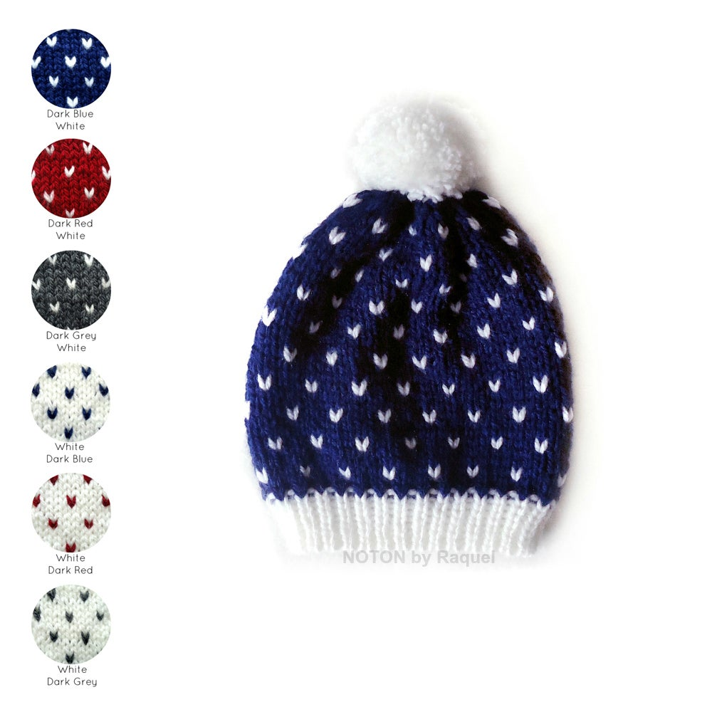 Image of Polka-dots Knit Beanie