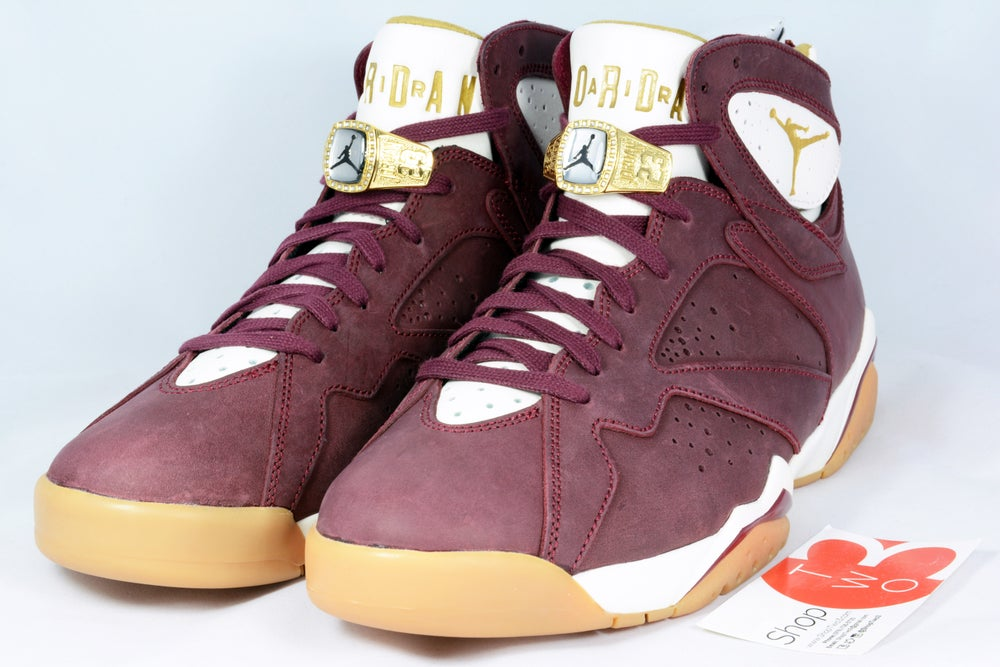 "Image of Air Jordan 7 ""2015 Championship Pack"" Burgundy"