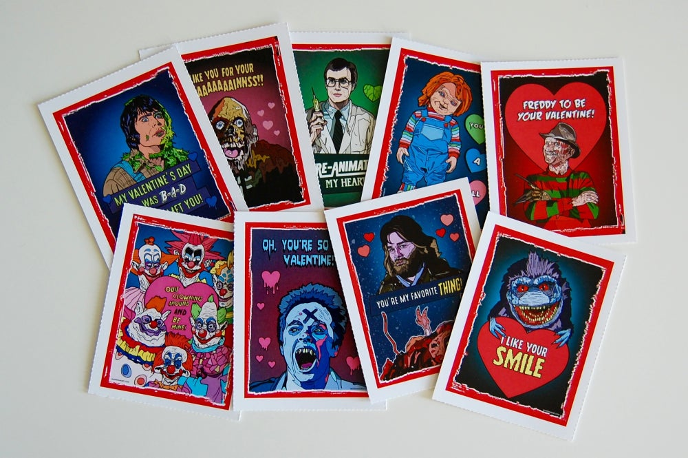 80's Horror Valentine's Day Card Pack (2016)