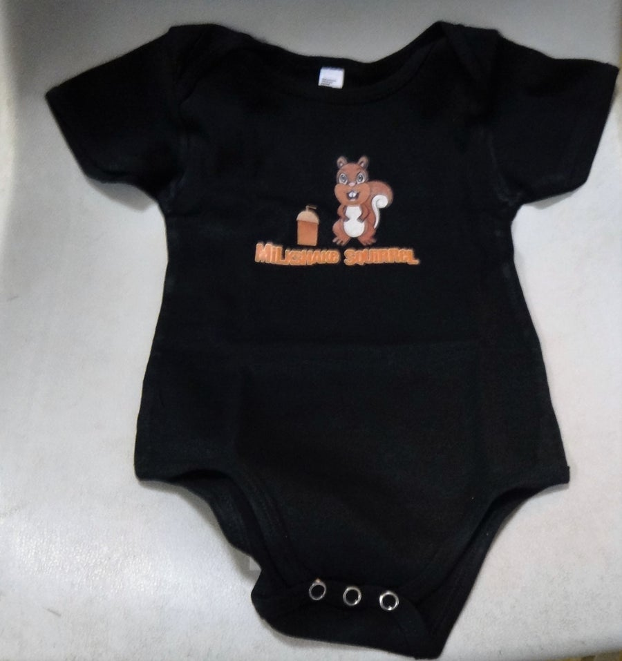 Image of Milkshake Squirrel - # 4001 - Infant Baby Rib Short Sleeve One-Piece