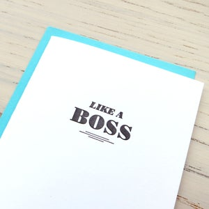 Image of like a boss letterpress card