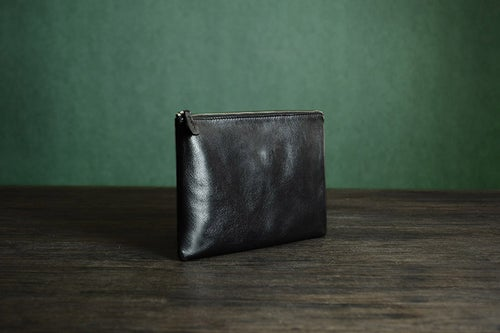 Image of Custom Handmade Vegetable Tanned Italian Leather Clutch Envelope Bag iPad Bag Pouch Bag D044