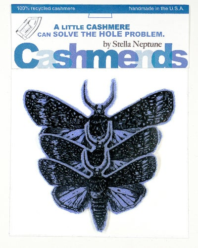 Image of Iron-on Cashmere Moths - Cornflower Blue