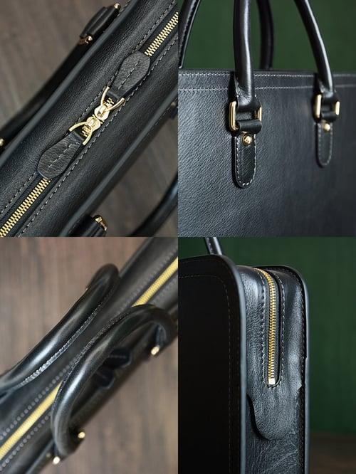 Image of Custom Handmade Vegetable Tanned Italian Leather Briefcase Mens Handbag Business Laptop Bag D046