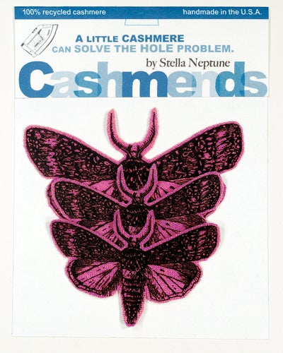Image of Iron-on Cashmere Moths - Hot Pink