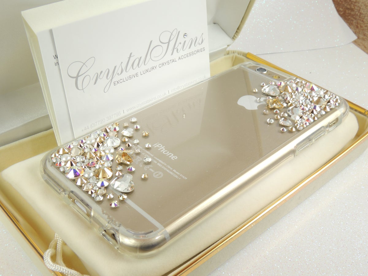 Image of Crystal Cascade Gold Limited Edition with Hearts & Butterflies