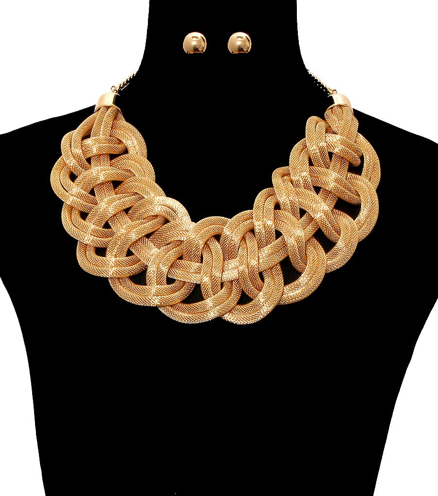 Image of Braided Statement Necklace Set