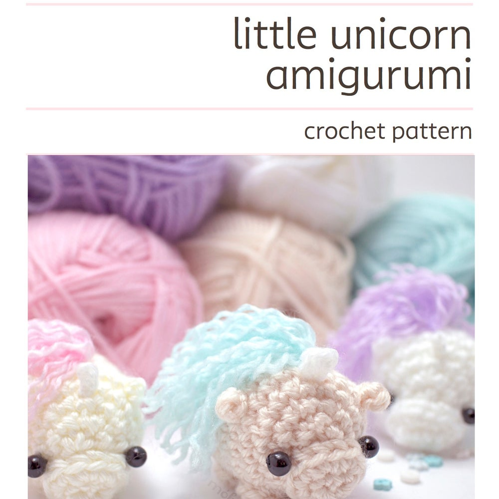 Image of crochet pattern - unicorn amigurumi