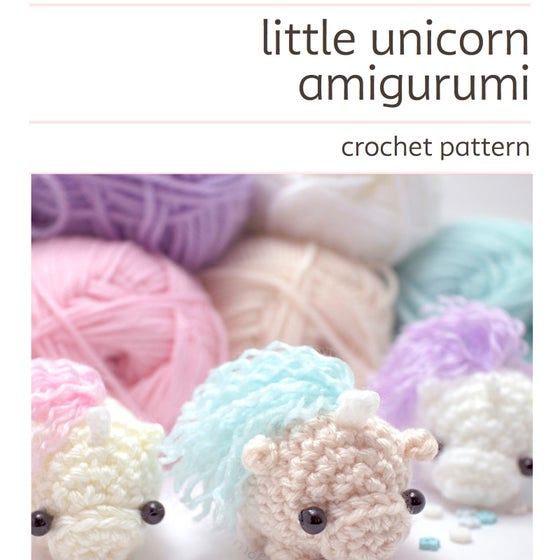 Image of crochet pattern - unicorn amigurumi