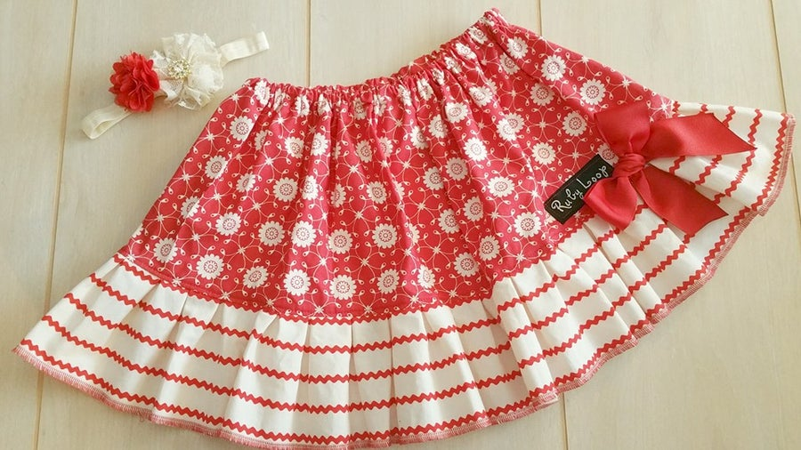 Image of Valentine Blooming toddler skirt