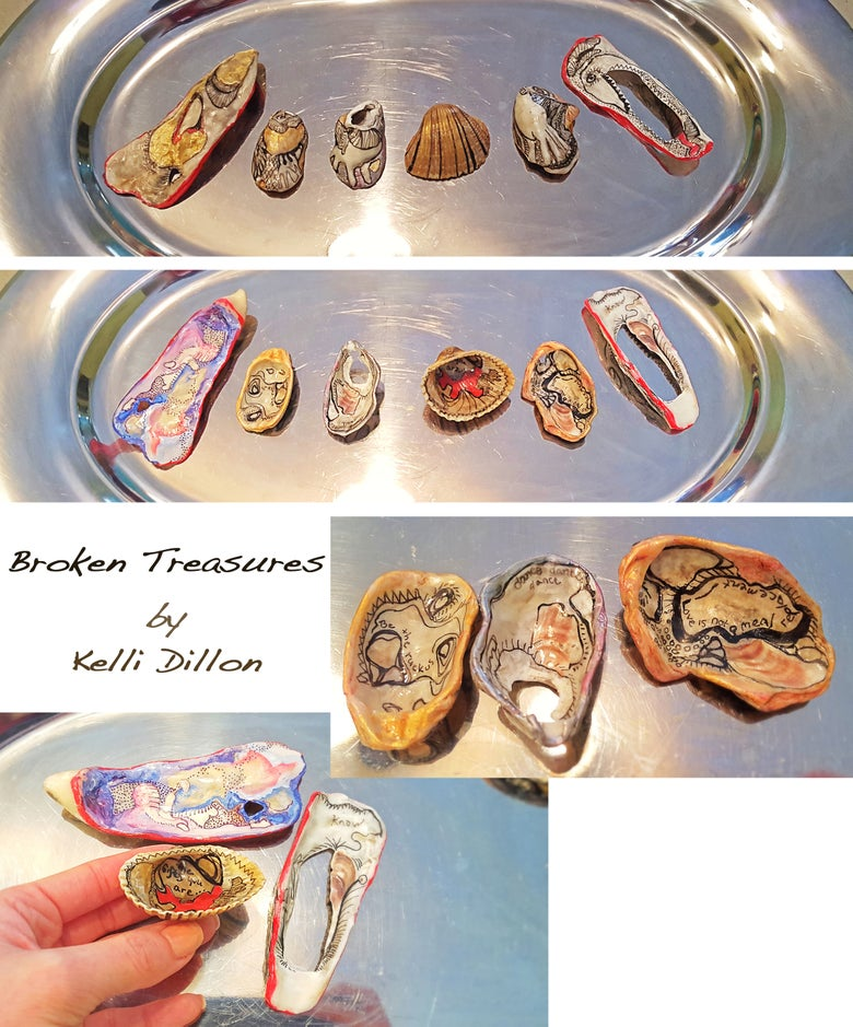 Image of Broken Treasures (set of 6, price includes shipping)