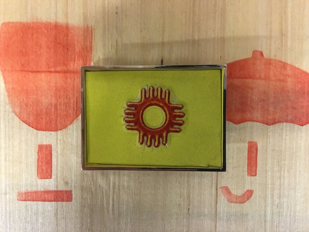 Image of Nm license plate belt buckle