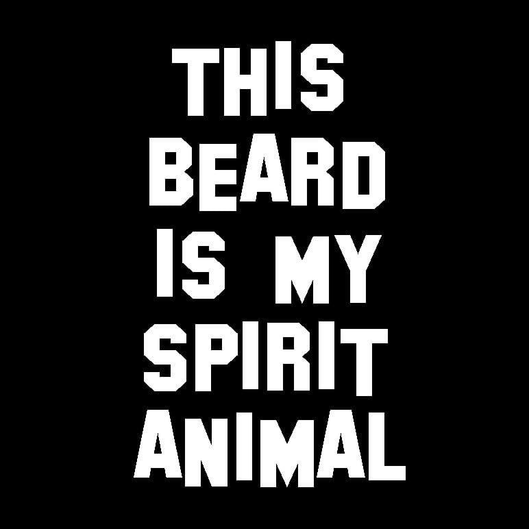 Image of This Beard is My Spirit Animal Guys T-Shirt