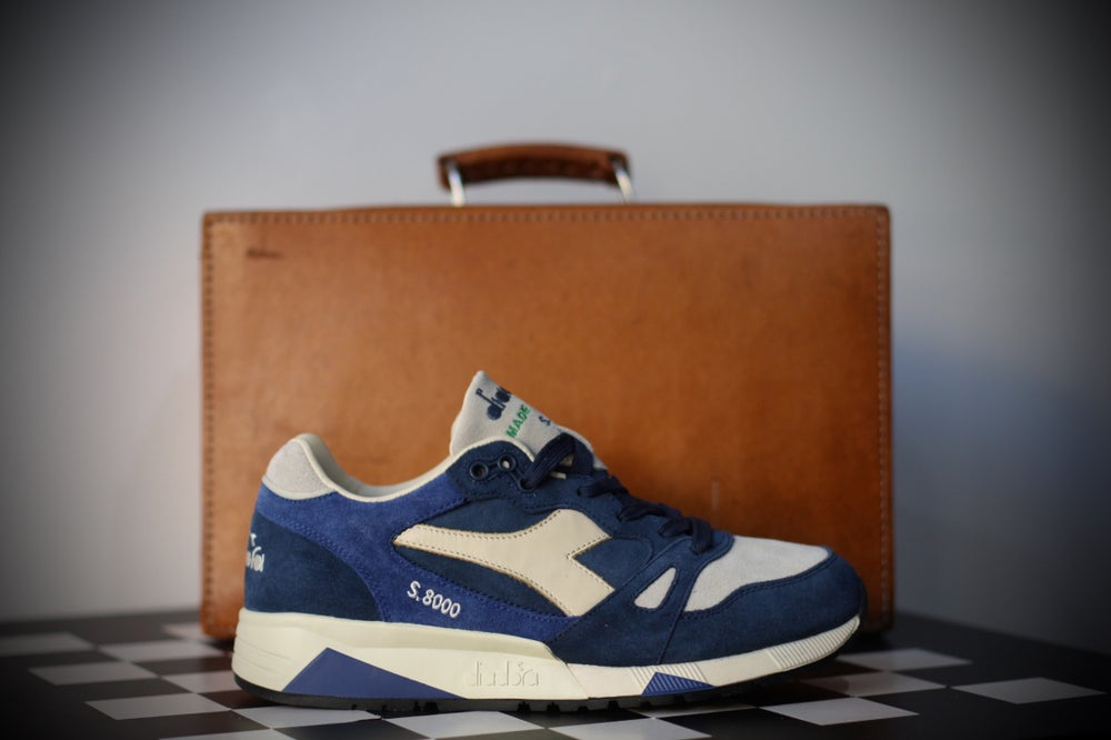 Image of Diadora S8000 S Ita made in italy dark denim blue