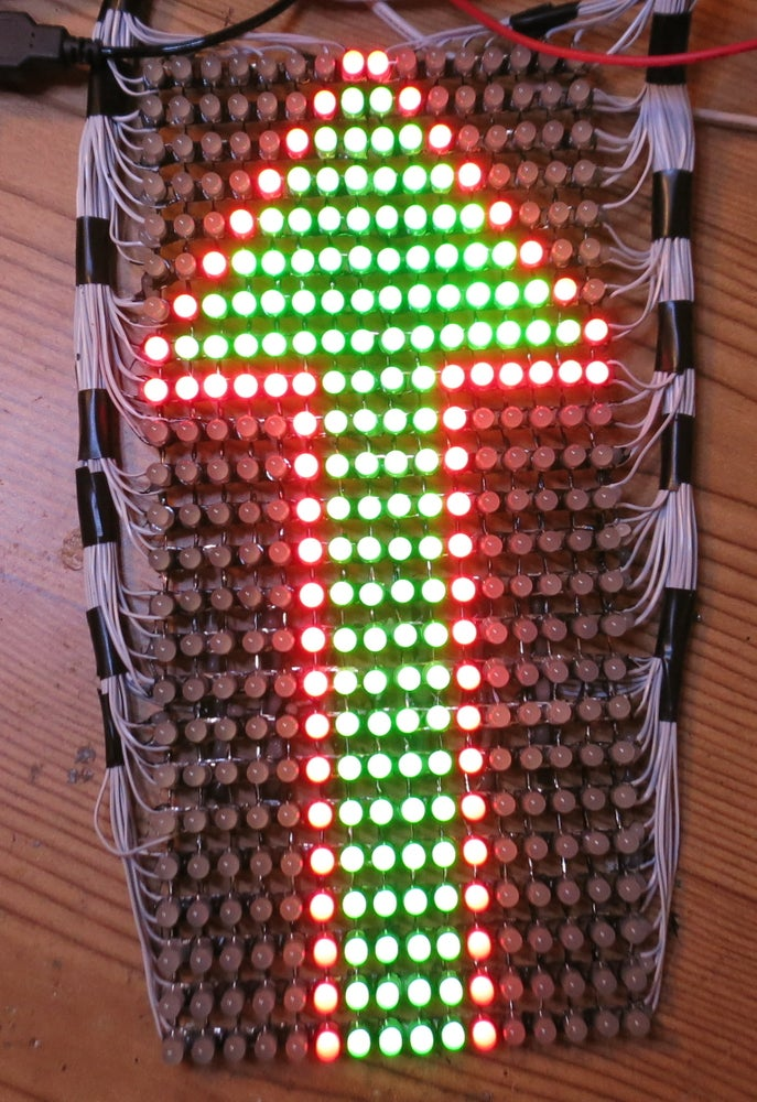Image of Completed Guy Man Red-Green LED kit