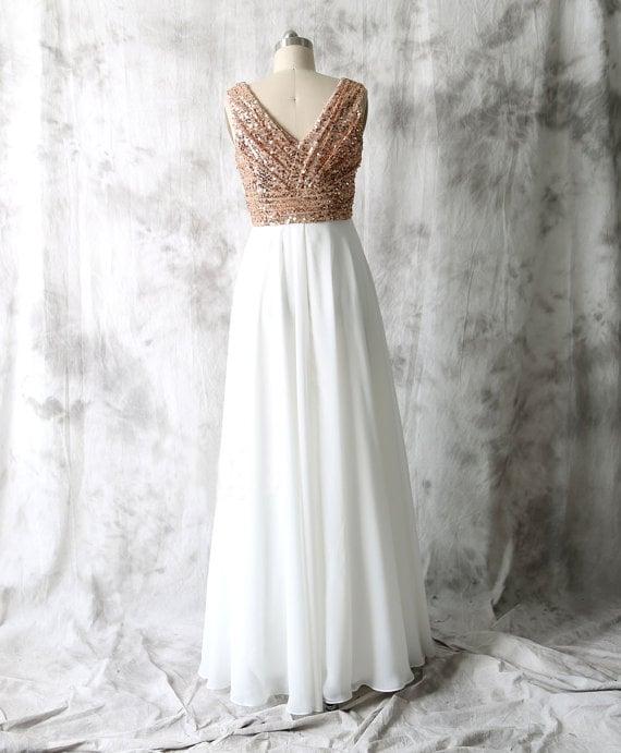 Elegant Chiffon Long Sequins Bridesmaid Dresses, Bridesmaid Dresses 2016