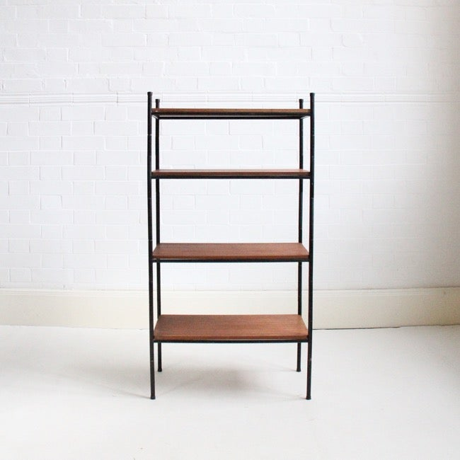 Image of Freestanding teak shelving