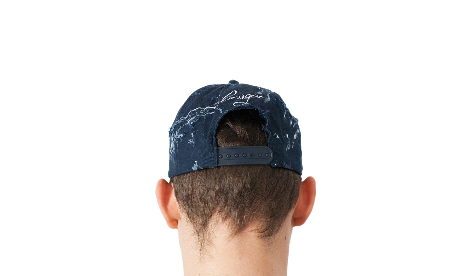 Image of Navy Distressed painter's cap